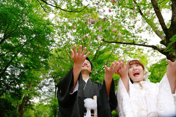 山梨 甲斐市 フォトスタジオ 写真館 写真スタジオ 富士山 桜 信玄堤 ドラゴンパーク 打掛 ドレス 新緑ロケ