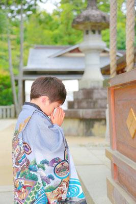 5歳七五三お詣り写真