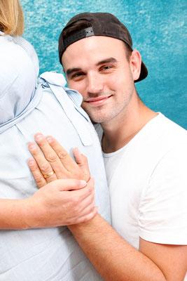 Schwangerschaftsfotografie, Papi freut sich auf dich, Zeiningen
