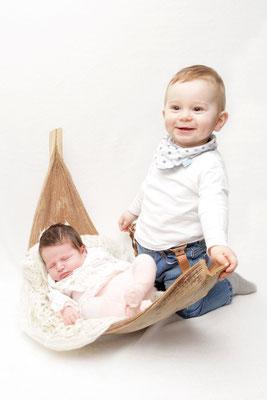 Babyfotografie - Geschwisterfoto - Homeshooting Aargau