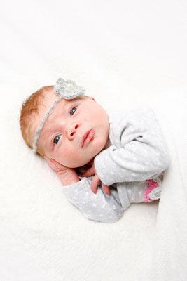 Baby Fotografie, kleine Maus guckt neugierig, Aargau