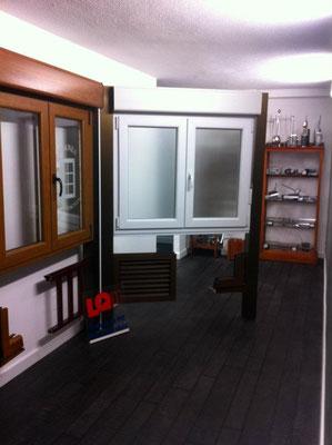 Sección de carpinteria de aluminio y PVC.