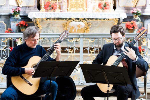 """Konzert """"Meeresstille"""" mit Stefan Barcsay in der Klosterkirche Oberschönenfeld am 24. Juni 2018, Foto: Leonie Daub"""