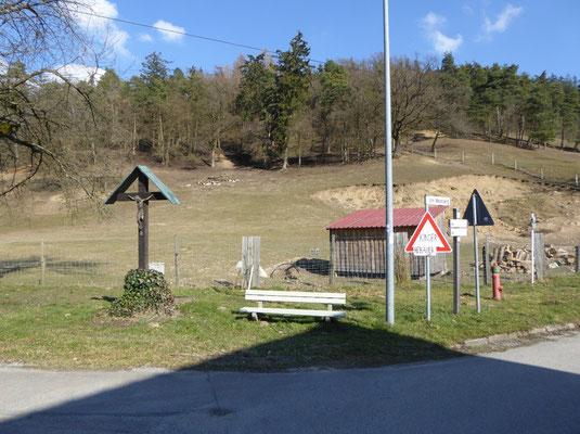 Startpunkt in der Hungersdorfer Str. in Wörth