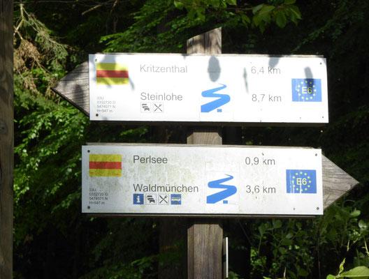 Wegmarkierung Nurtschweg / Goldsteig