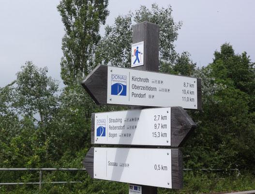 Wegmarkierung Donaupanoramaweg