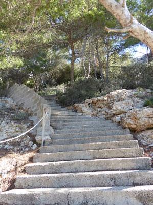 Die Treppe des Grauens zu Beginn :-))