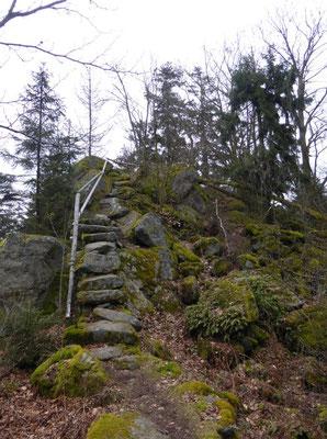 Einstieg zur steinernen Wand