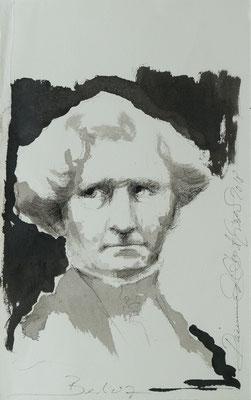 Berlioz, 2018, 39x24, Tusche/Bütten, P28                       ©Raimund Egbert-Giesen