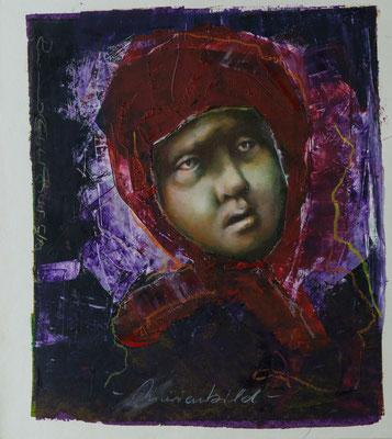 Marienbild, 2010, 35x29, Mischtechnik/Papier, P14                       ©Raimund Egbert-Giesen