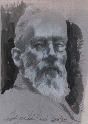 Andrejewitsch Rimski-Korsakow, 2017, 51,5x37cm, Graphit/Tusche/Papier, P65                       ©Raimund Egbert-Giesen