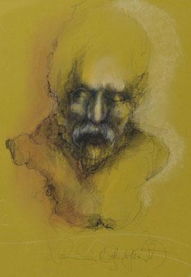 Zerbrechlich, 2007, 50,5x32,5cm Fineliner/Tusche/Papier, P67                       ©Raimund Egbert-Giesen