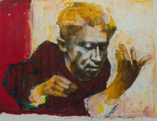 von Karajan, 2018, 54x43, Mischtechnik/Papier, P19                       ©Raimund Egbert-Giesen