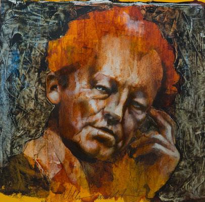 Willy Brandt, 2017, 46x46, Mischtechnik/Papier, P17                       ©Raimund Egbert-Giesen
