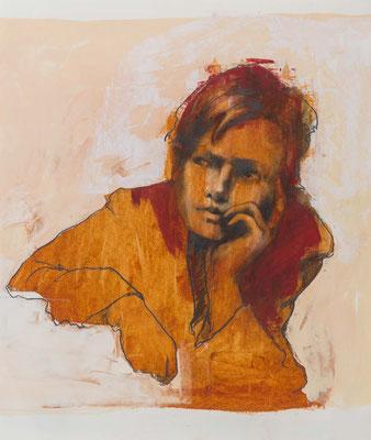 Schüler, 2014, 50,5x44,5cm, Öl/Bütten, P58                       ©Raimund Egbert-Giesen