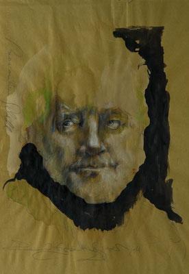 Maximilian Schell, 2011, 37x32, Mischtechnik/Papier, P24                       ©Raimund Egbert-Giesen