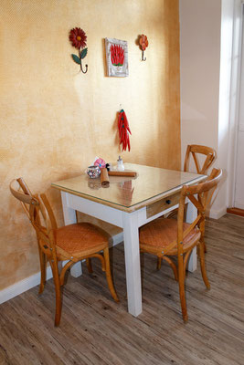 Speiseraum für Gäste der Doppelzimmer
