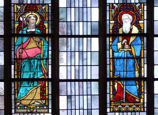 Kirchenfenster über der Sakristei - Hl. Jacob und Hl. Paul