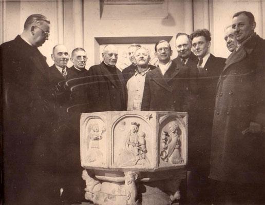 Taufstein kommt wieder in die Kirche St. Vitus