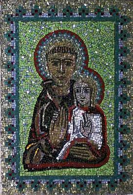 Antonius-Mosaik  (Der heiligen Antonius ist in der ganzen Welt auch als der Heilige bekannt, der Verlorenes wiederfindet)
