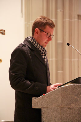 Daniel Brüning bei der Lesung