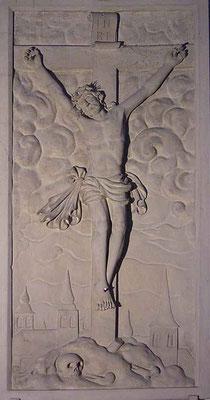 Steinplatte neben der Sakristei