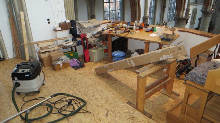 Eine Werkstatt auf der Orgelbühne