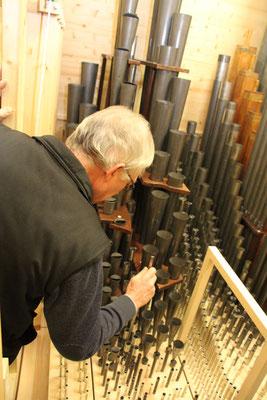 Orgelpfeifenaufbau