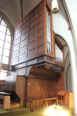 Die Fleitner-Orgel vor dem Abbau