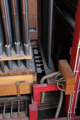 Blick in die Orgelinstallation