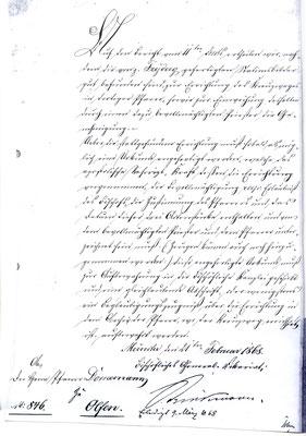 1868 - Schreiben an Pfr. Dornemann
