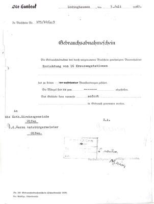 1940 - Gebrauchsabnahmeschein
