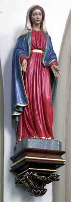 Statue der Mutter Maria an der Josephskapelle