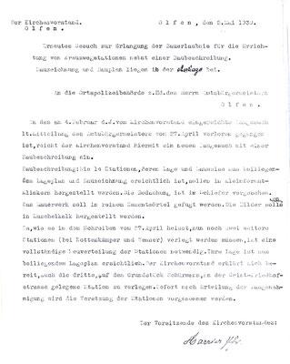 1939 - Gesuch der Bauerlaubnis