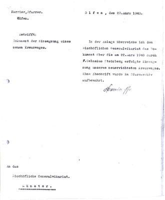 1940 - Bestätigung der Einsegnung