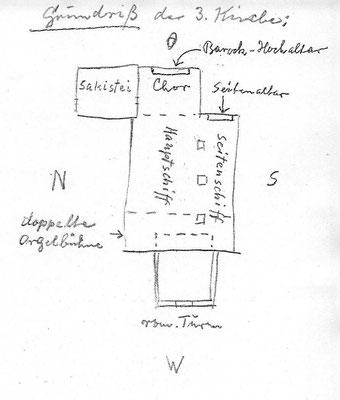 Grundriss der dritten kirche