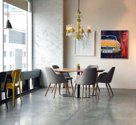 Augenweide – Der MG Druck ist Eyecatcher in modernen Wohnräumen.