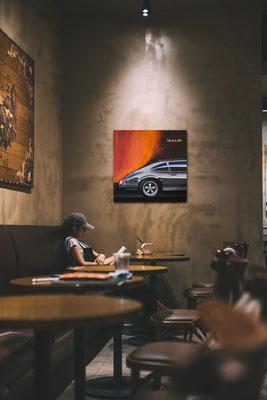 Porsche Druck in modernem Ambiente