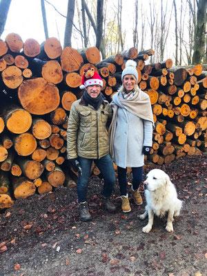 mit Schwester Ute & Henry im Meerholzer Wald