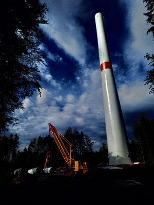 Windpark Baustelle Jossgrund