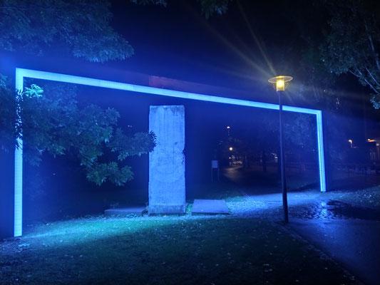 Berliner Mauerstück am Englischen Garten vor dem amerik. Konsulat