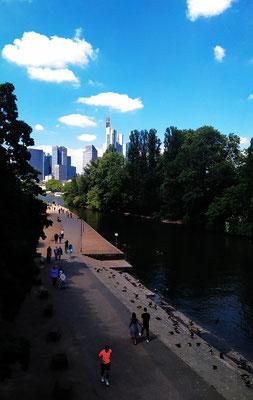"""Blick von der """"Alte Brücke"""" gen Westen"""