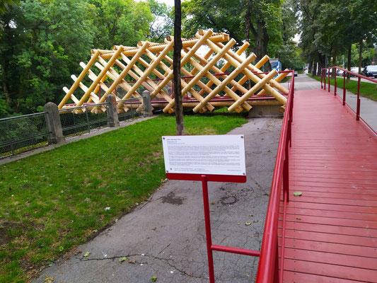 """Temporäre Installation """"Bridge Sprout"""" zur (Isar) Schwindinsel ..."""