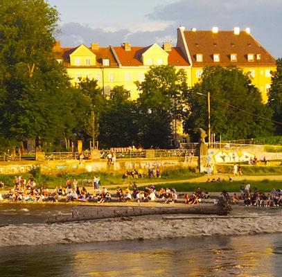 ... Sonnenufer zwischen Cornelius- und Reichenbachbrücke