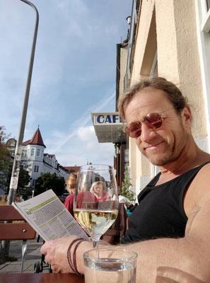 nachmittags am Cafe Ruffini
