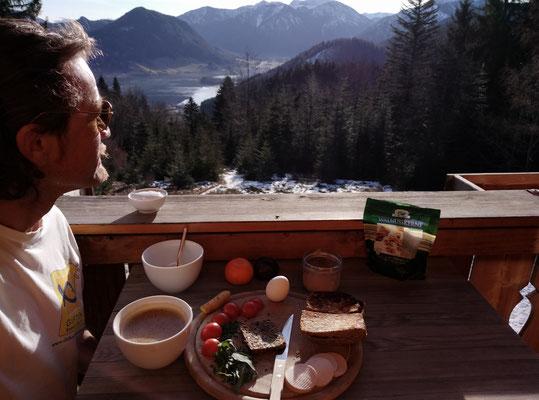 kaiserliches frühstück am berg
