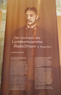 Gustav Guglitz - der Architekt des Landesmuseums Rudolfinum in Klagenfurt
