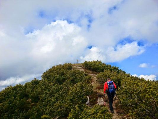 Die letzten Meter zum lang ersehnten Gipfel