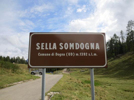 Am Sella Somdogna - Somdogna Sattel angelangt