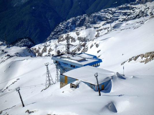 Die Bergstation der Gondelbahn von Bovec in Slowenien